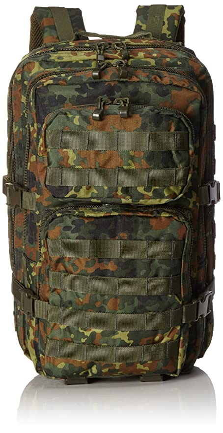 62a448cb73be Mil-Tec Military Army Patrol Molle Assault Pack Tactical Combat Rucksack  Backpack Bag 36L Flecktarn Camo