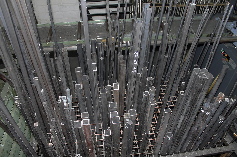 TUBO RETTANGOLO quadrangolare ACCIAIO TUBO TUBO profilo tubo di acciaio 25x15x2 mm a 1000 mm