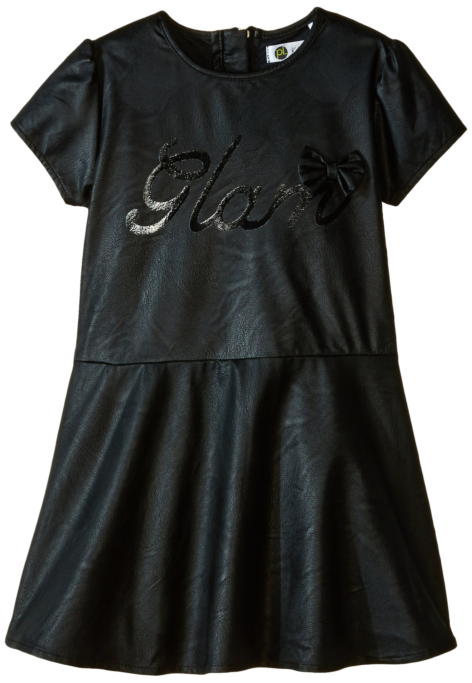 Petit Lem Little Girls' Glam Rock Short Sleeve Dress, Black, 6