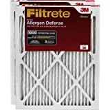 Filtrete MPR 1000 20 x 20 x 1 Micro Allergen Defense AC Furnace Air Filter, Captures Small Particles, Guaranteed Airflow up to 90 days, 2-Pack