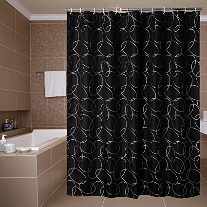 Amazon.com: Yuunity Printed Shower Curtain Polyester Fabric ...
