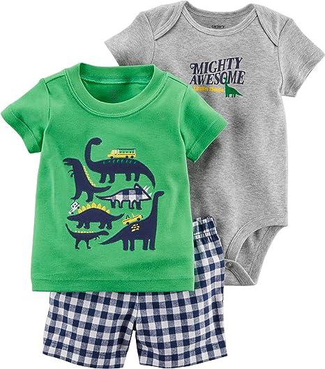 Unisex Baby Boy Girl Dinosaur in The Bush Short-Sleeve Bodysuit
