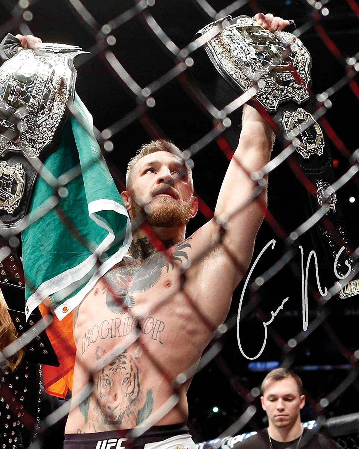 Present Gift Collectible 10x8 Size to Fit 10x8 Inch Frames UFC #4  Signed Lab Photo Reprint CONOR McGREGOR Photo Display Lab Quality