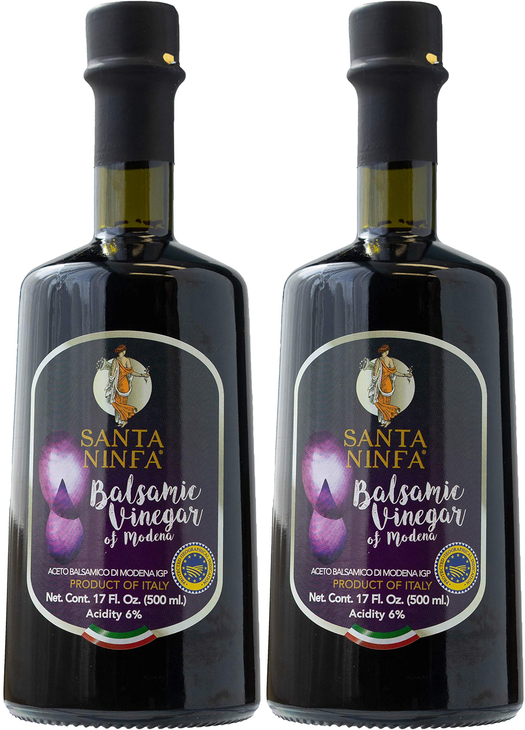 Santa Ninfa Balsamic Vinegar of Modena IGP, 17 Fl Oz Glass Bottle, (Pack of 2) 1 Ships in Amazon Certified Frustration-Free Packaging Pack of two Balsamic Vinegar of Modena, Italy, 17 oz Glass Bottles This Balsamic vinegar is matured in wooden casks to achieve a complex flavor balancing sweetness and acidity.