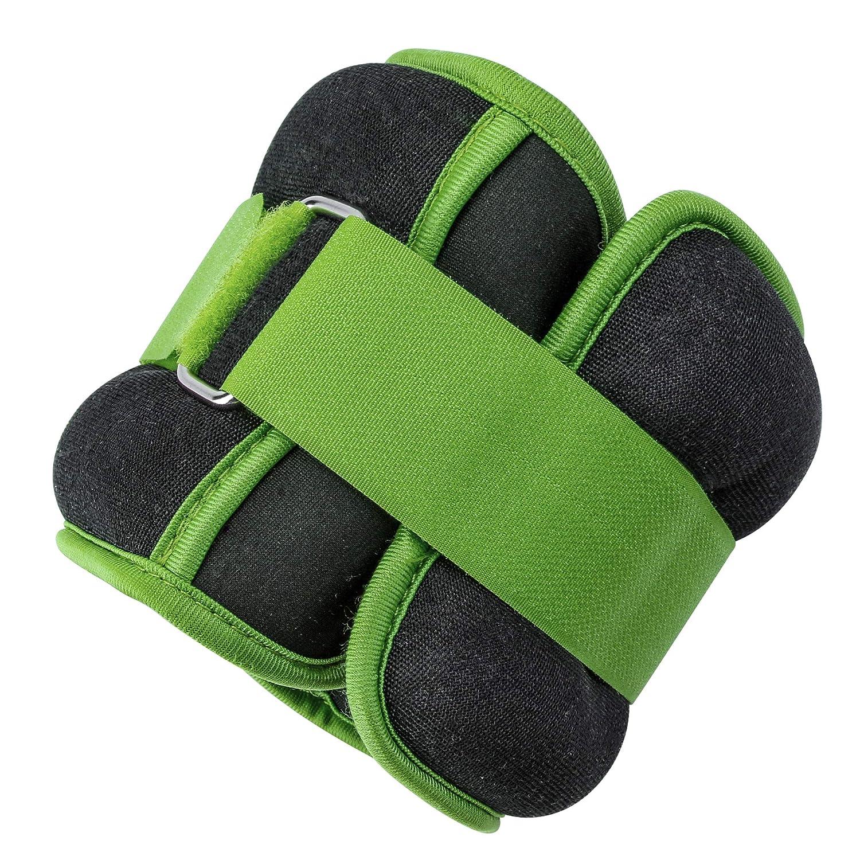 0,45 kg Essentials rojo Pesas lastradas para tobillos y mu/ñecas con tira ajustable Umi