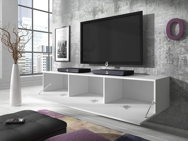 e-Com Wei/ß TV-Lowboard Fernsehschrank Fernsehtisch Rocco 160 cm