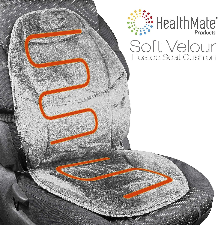 HealthMate Velour 12V Heated Seat Cushion