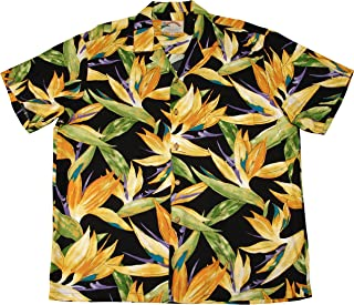 product image for Paradise Found Men's Watercolor Bird of Paradise Hawaiian Shirt