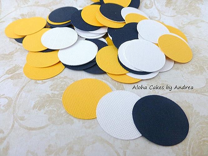 Amazon.com Circle Confetti, Navy Blue, Yellow, White