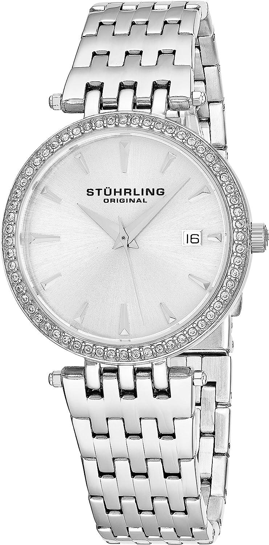 Stuhrling Original Women's Soiree Swiss Quartz Swarovski Crystals Date Watch 579 Series