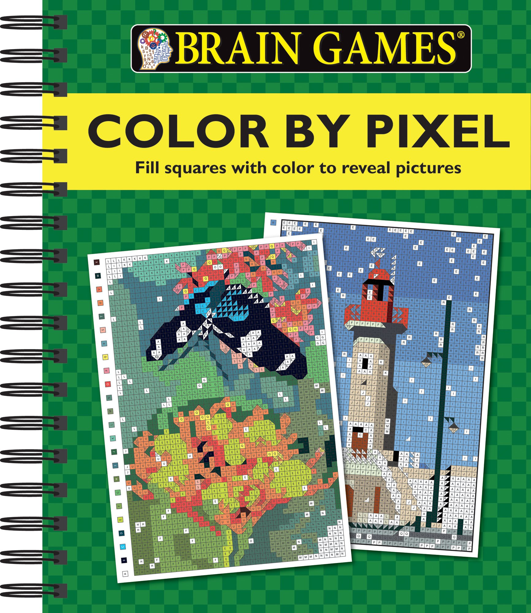 amazoncom brain games color by pixel 9781680223064 editors of publications international ltd books - Color Code Book