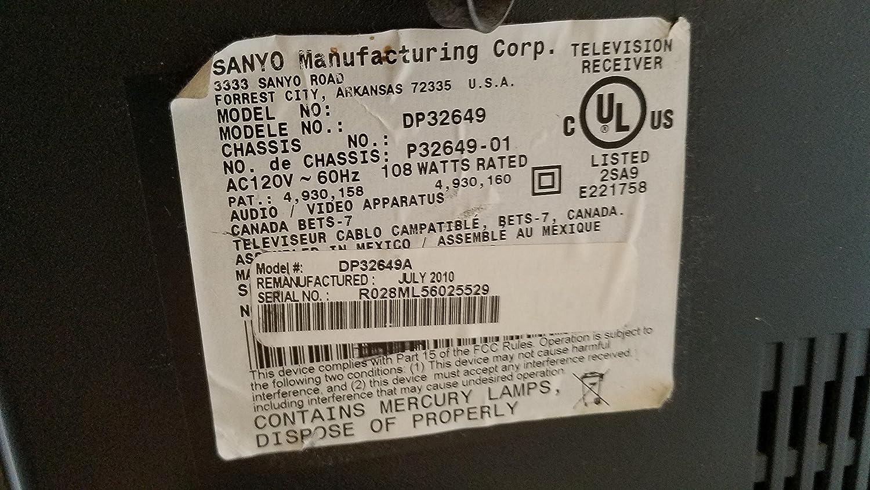 TV Sanyo DP32649 placa base # 1lg4b10y03000 a (n7be): Amazon.es: Electrónica