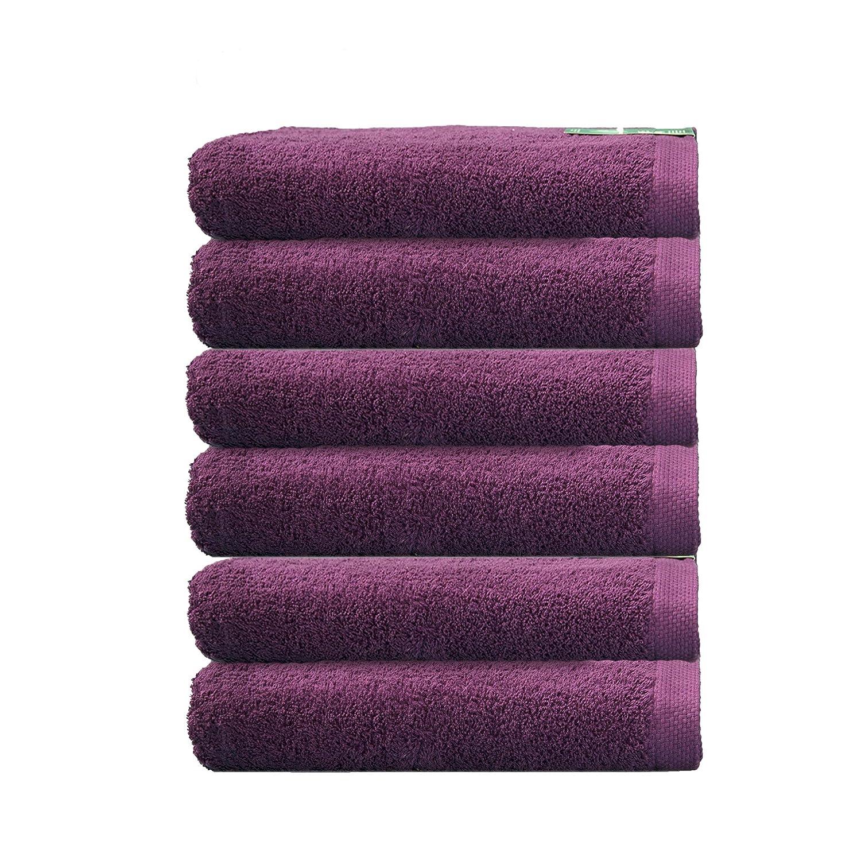 ADP Home - Pack Toallas 550 Grms 6 Piezas (Toalla Tocador) 100% Algodón Peinado Color - Púrpura Talla - 30x50 cm: Amazon.es: Hogar