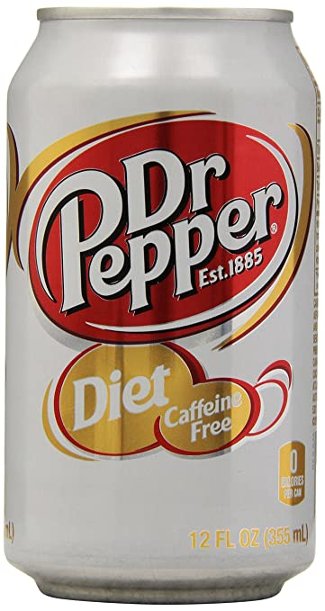 Amazon Diet Dr Pepper Caffeine Free 12 Pk 12 Fl Oz Cans