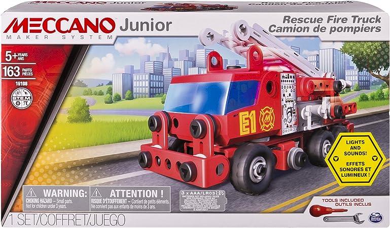 Meccano 6028420 - Set Costruzioni Junior Camion Pompieri: Amazon.es: Juguetes y juegos