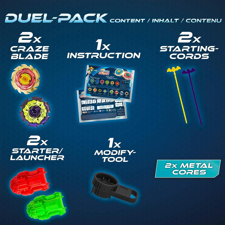 BLADEZ 2 Combat de Gyroscope Pack Duel Robuste 10280 CRAZE Multicolore