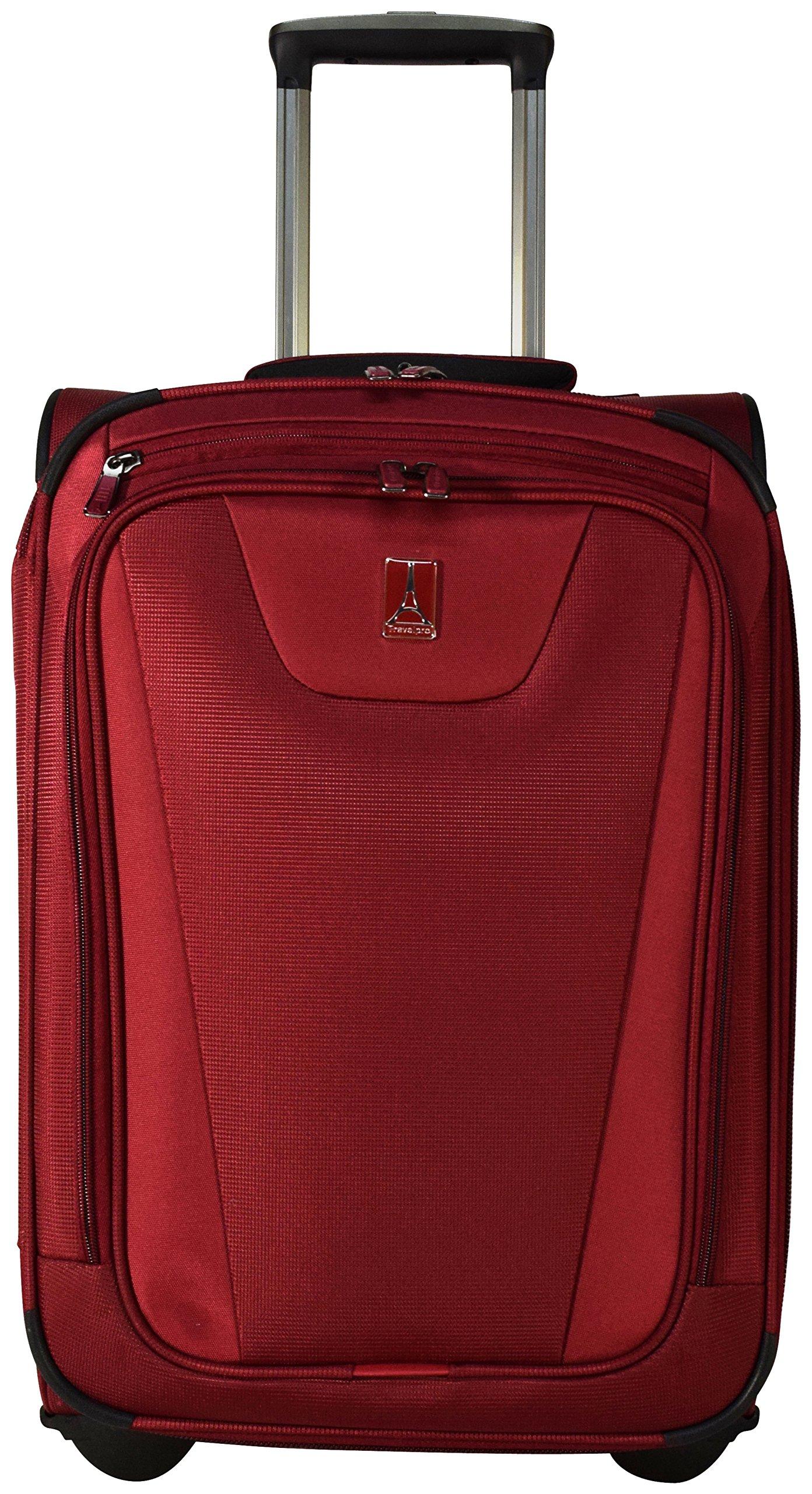 Travelpro Maxlite 4 22 Quot Expandable Rollaboard Suitcase Merlot Amazon