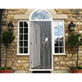 Vermatik Premium Aluminium Chain Link Fly Curtain, Insect Door Screen, Ideal for Home or Commercial Use, 90cm x 210cm