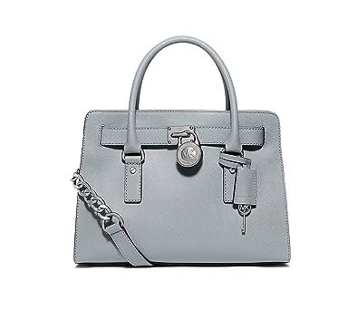 126db529a345 Michael Kors Hamilton Large EW Satchel Dusty Blue  Handbags  Amazon.com