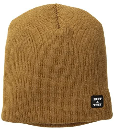 767332078b2c Amazon.com: Quietwear Men's Ruff and Tuff 4 Layer Beanie, Duck Brown ...