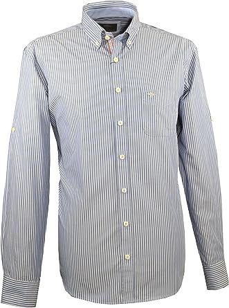 Fynch Hatton 1120-8100 8106 - Camisa para Hombre, Color Azul Marino y Blanco: Amazon.es: Ropa y accesorios