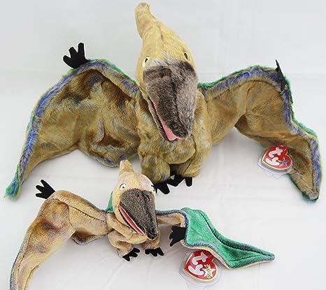 Amazon.com  Ty Beanie Buddy   Baby Pterodactyl Dinosaur Set - Swoop ... ea41862bf5f
