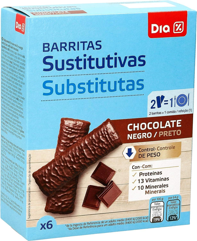 DIA VITAL barritas sustitutivas chocolate negro caja 6 uds ...