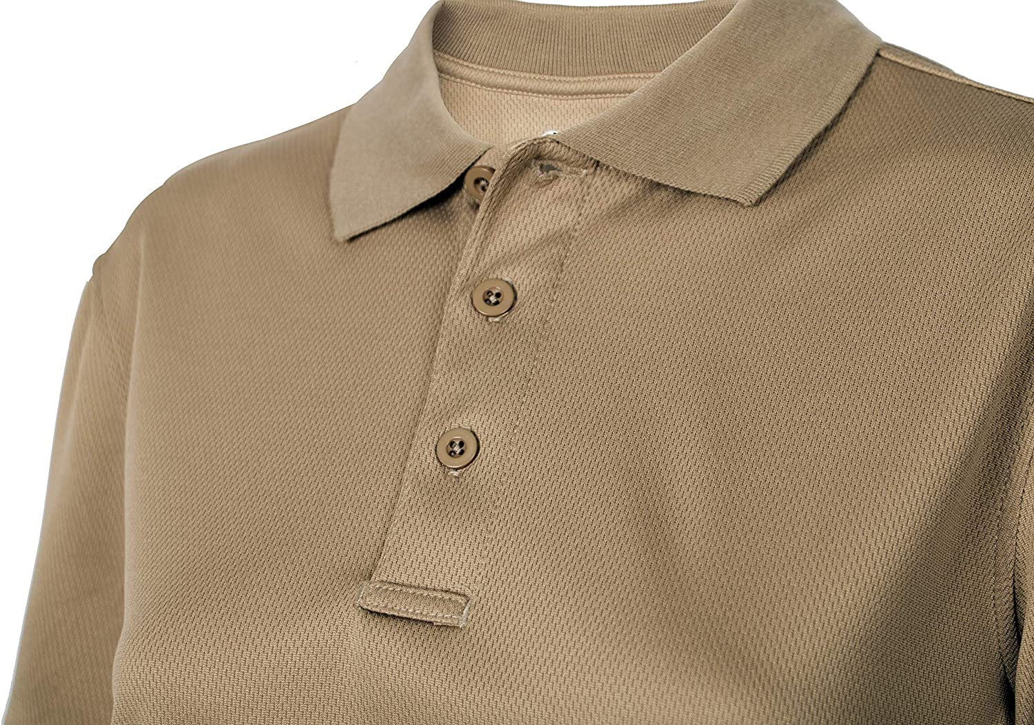 LA Police Gear Womens Anti Wrinkle Tactical Recon Jersey Polo Shirt-Charcoal-M