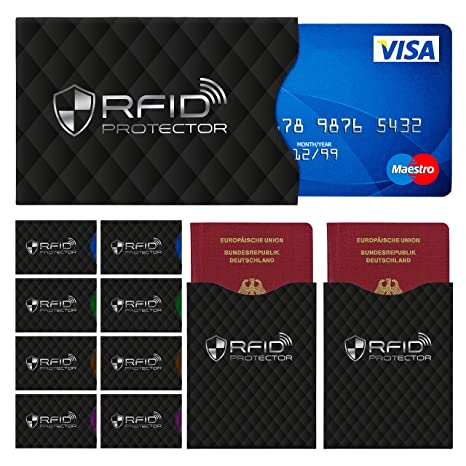 Begeistert 10x Schutzhülle Ec-karte Hülle Kartenhülle Kartenschutzhülle Kreditkarte