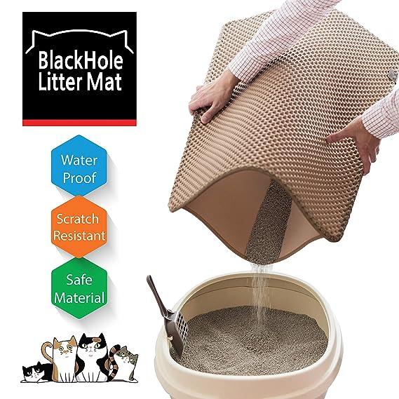 best cat litter mat 2020 Amazon.: Blackhole Cat Litter Mat   Large Size Rectangular 30