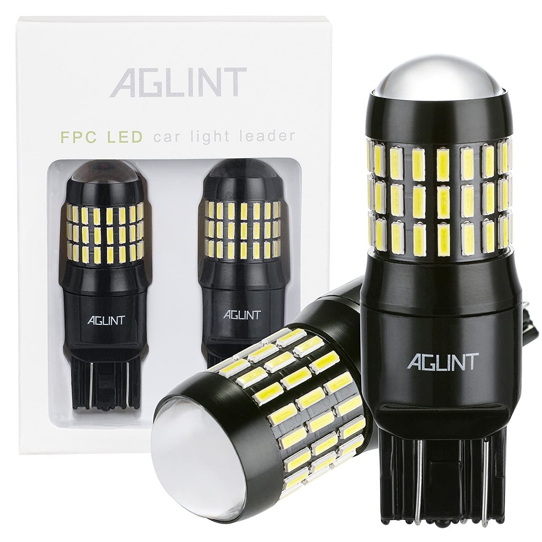 AGLINT 2X T20 LED Lampadine 4014PX 66SMD per Auto Girare Segnale Freno LED Luce W21W 7440 7443 Fanale Di Arresto Di Coda LED Lampadina 12V 24V Bianco