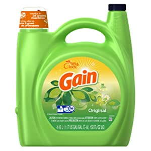 Gain with FreshLock for High Efficiency Machines Liquid Detergent, Original Scent, 96 Loads, 150 Fluid Ounce