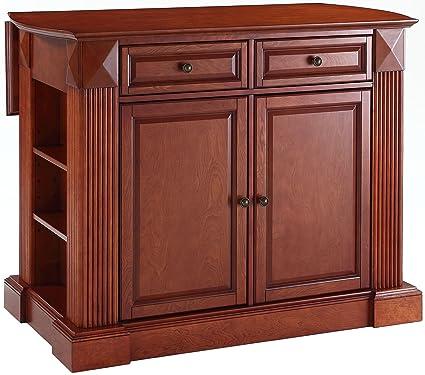 Amazon.com: Crosley Furniture Drop Leaf Kitchen Island/Breakfast Bar ...