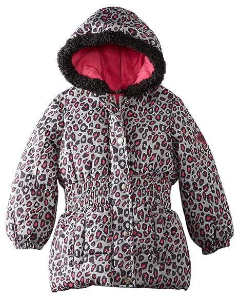 Amazon.com: Rosa Platinum Little Girls Cheetah Puffer ...