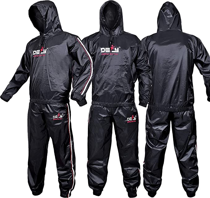 Liangzhou Fitness Sauna Suit for Men and Women Heavy Duty Fitness Weight Loss Sweat Suits Exercise Gym Suit Anti-Rip with Hood