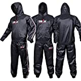 DEFY Heavy Duty Sweat Suit Sauna Exercise Gym Suit Fitness, Weight Loss, Anti-Rip, with Hood