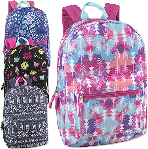 17 Inch Printed Backpacks Case Pack 24