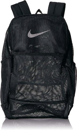 mejor precio varios estilos servicio duradero Amazon.com: NIKE Brasilia Mesh Backpack 9.0, Black/Black/White, Misc:  Clothing