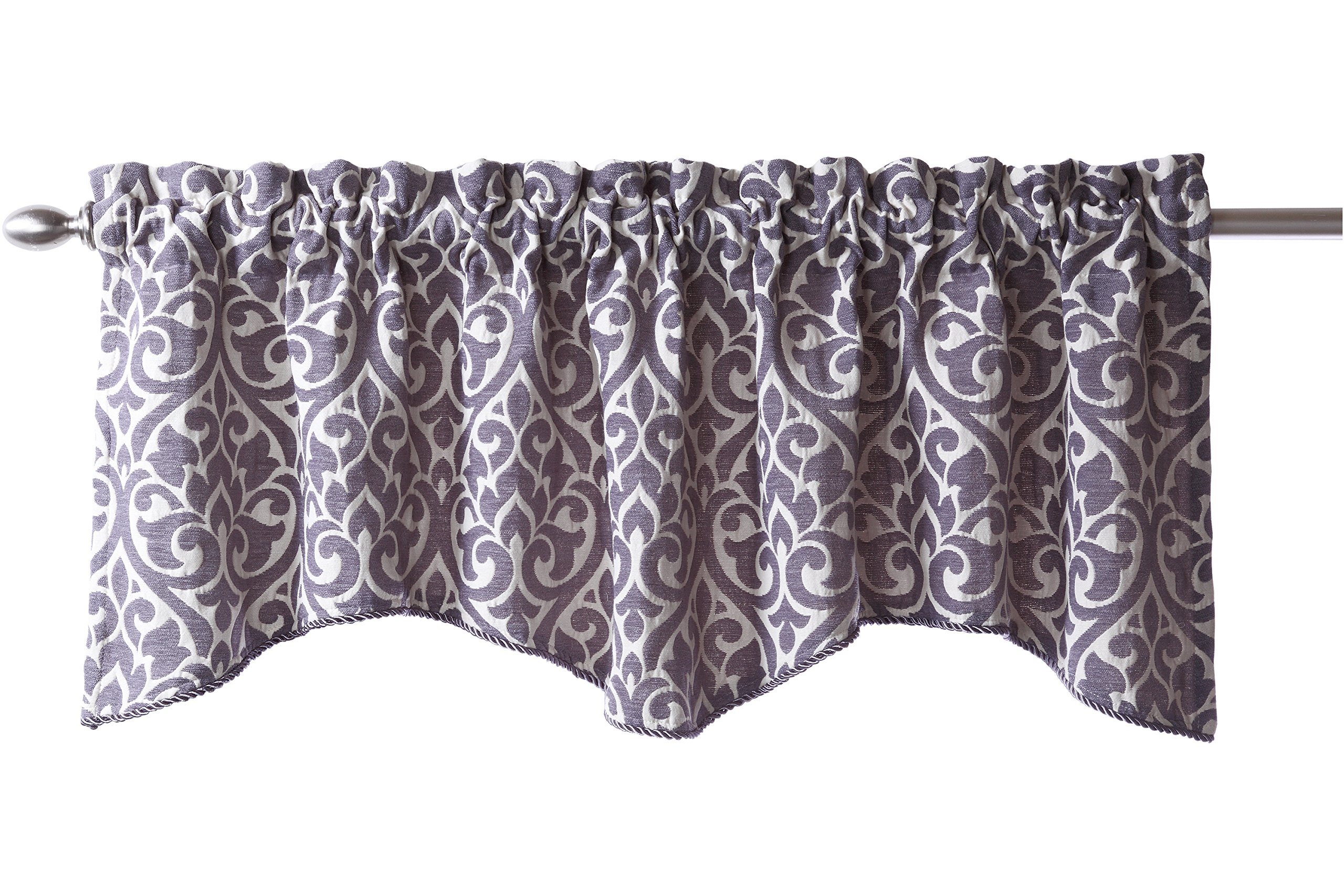 corner pleated embroidered for linen in valance windows valances tailored blend pin window fabric cotton