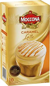 Moccona Coffee Caramel Latte - 10 Individuals Sachets (140g x 3 Packs)