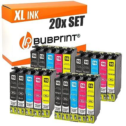 Bubprint 20 Cartuchos de Impresora Compatible con Epson T1631 ...