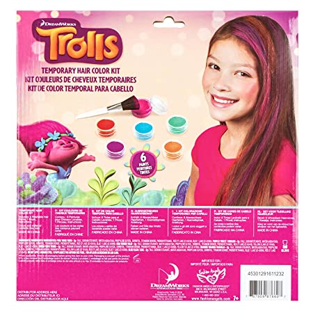 Amazon.com: Trolls Temporary Hair Color Kit: Toys & Games