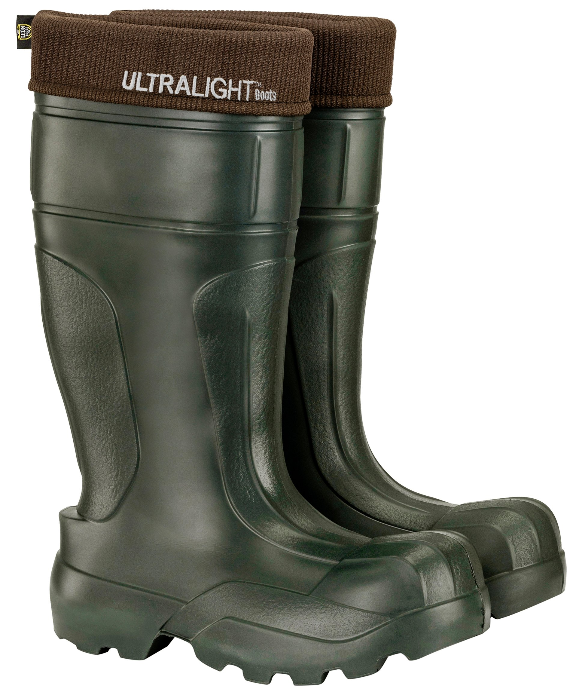 Leon Boots Co. Ultralight Men's ULTR1 EVA Boots, Size US 13-1/2, EU 47, Green