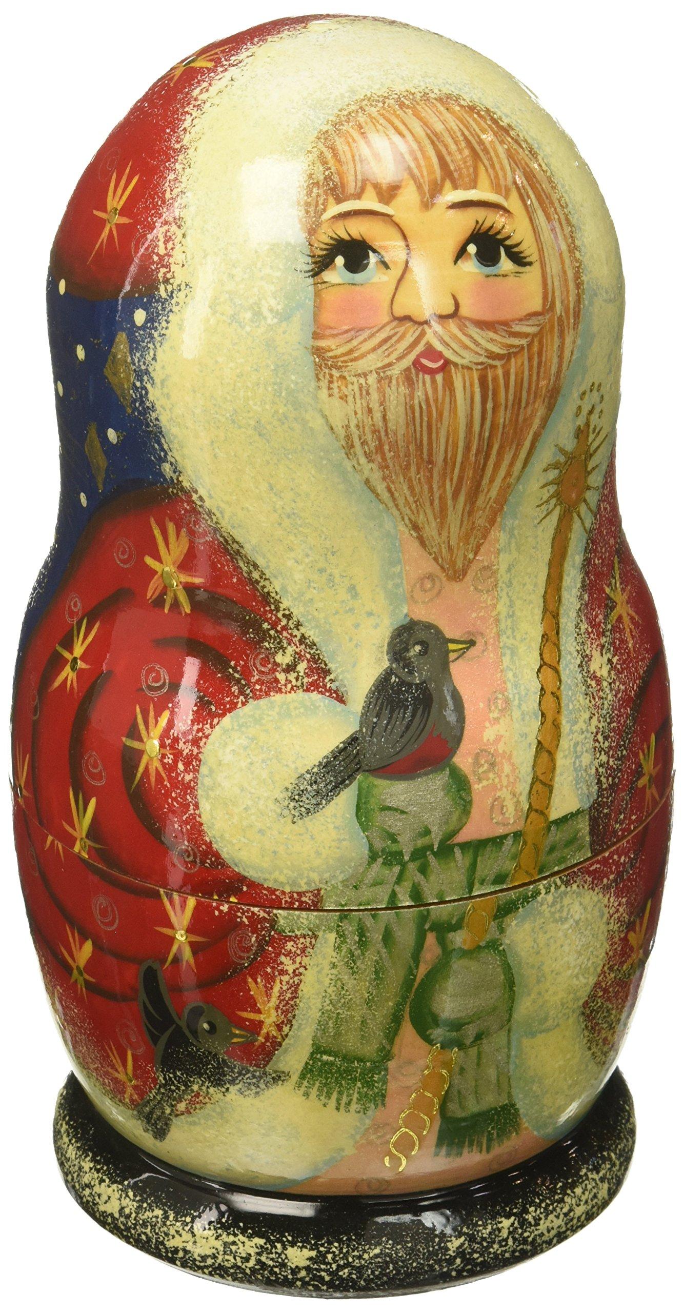 G. Debrekht Birdy Santa Nested Doll, 6'' by G. Debrekht (Image #1)