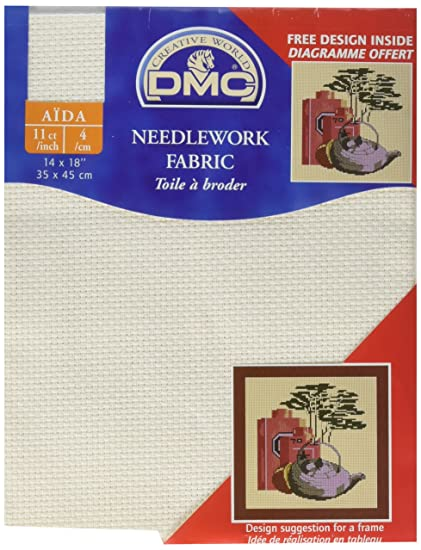 DMC GD1136-0322 Classic Reserve Gold Label Aida Fabric Box Antique White 11-Count