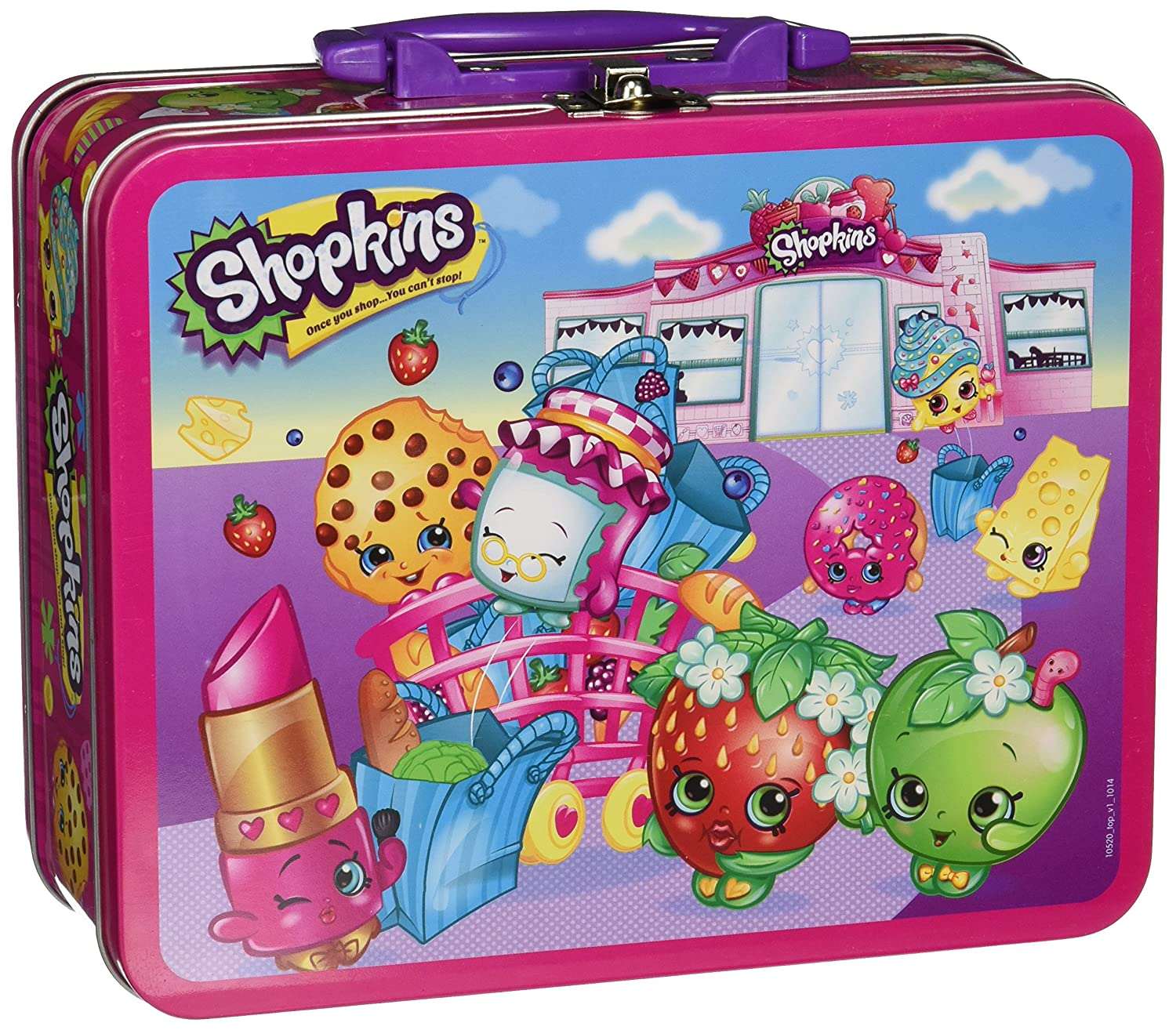 Pressman toys shopkins assortment in lunch box puzzle 100 for Decor 6 piece lunchbox