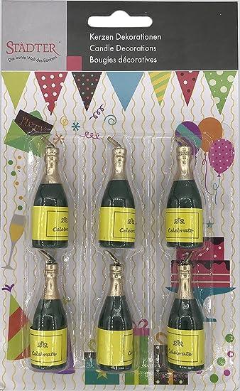 6 Minikerzen * CHAMPAGNER * Für Silvester, Party Und Geburtstag // Kerzen Kuchen  Torte