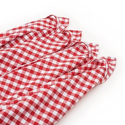 Strofinacci da cucina FILU (8 pezzi, rosso e bianco) Strofinaccio da ...
