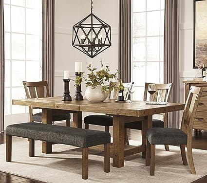 Amazing Amazon Com Tarmilr Casual Brown Color Rectangular Dining Bralicious Painted Fabric Chair Ideas Braliciousco