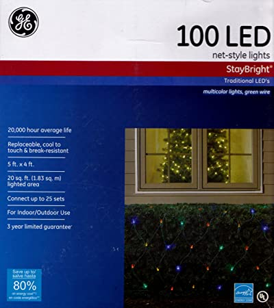 GE 100 LED Net-Style Holiday Light